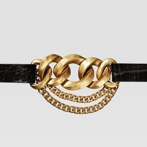 Zara limited edition leather and link belt